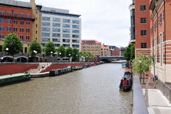 Paysage urbain de quartier des docks photographie stock