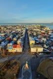 Paysage urbain de Reykjavik Photographie stock libre de droits