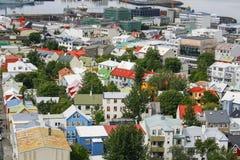 Paysage urbain de Reykjavik Images stock