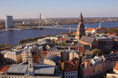 Paysage urbain de Riga, Lettonie image stock
