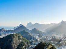 Paysage urbain de Rio de Janeiro Photos stock
