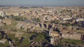 Paysage urbain de Rome banque de vidéos
