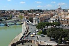 Paysage urbain de Rome avec Vatican Photos libres de droits