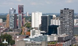 Paysage urbain de Rotterdam, Hollandes images libres de droits