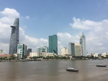 Paysage urbain de Saigon, Vietnam Photo libre de droits