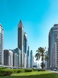 Paysage urbain de secteur de baie d'affaires Vue de Sheikh Zayed Road Dubaï, EAU, juin 2018 photo libre de droits