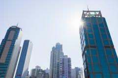 Paysage urbain de Sheung blême Image libre de droits