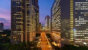 Paysage urbain de Shinjuku banque de vidéos
