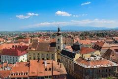 Paysage urbain de Sibiu Photos stock