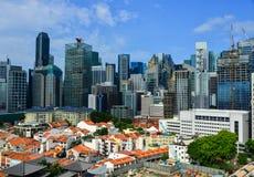 Paysage urbain de Singapour Photos stock