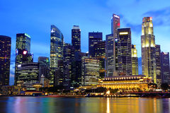 Paysage urbain de Singapour image stock
