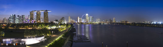 Paysage urbain de Singapour Images libres de droits