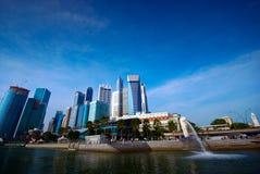Paysage urbain de Singapour Photographie stock