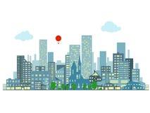 Paysage urbain de soirée illustration libre de droits