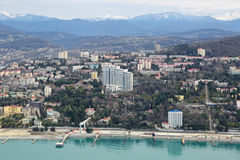 Paysage urbain de Sotchi Photo libre de droits