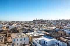 Paysage urbain de Sousse, Tunisie photographie stock