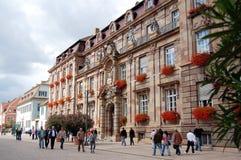 Paysage urbain de Speyer avec le son centre ville et maisons historiques Peo image stock