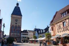 Paysage urbain de Speyer avec le son centre ville et maisons historiques Peo photographie stock libre de droits