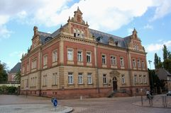 Paysage urbain de Speyer avec le son centre ville et maisons historiques Peo photo libre de droits
