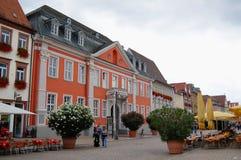 Paysage urbain de Speyer avec le son centre ville et maisons historiques Peo image libre de droits
