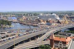 Paysage urbain de Szczecin photos libres de droits