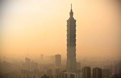 Paysage urbain de Taïpeh Image stock