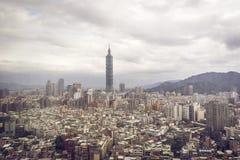 Paysage urbain de Taïpeh Photos stock