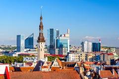 Paysage urbain de Tallinn Estonie Photos libres de droits