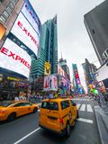 Paysage urbain de temps de jour de Time Square photographie stock libre de droits