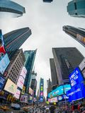Paysage urbain de temps de jour de Time Square photo stock