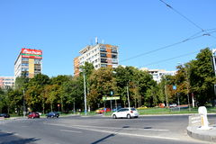 Paysage urbain de Tipical à Bucarest Photo libre de droits