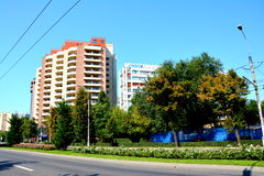 Paysage urbain de Tipical à Bucarest Photos stock