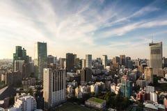Paysage urbain de Tokyo Photo libre de droits