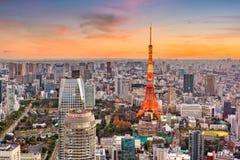 Paysage urbain de Tokyo, du Japon et tour Photographie stock