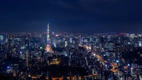 Paysage urbain de Tokyo la nuit, Japon photo libre de droits