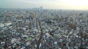 Paysage urbain de Tokyo Ville sans fin avec le speed-way, manière de tram à l'arrière-plan japan banque de vidéos