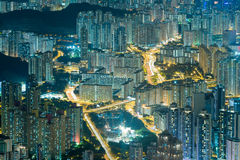Paysage urbain de traînée de feu de signalisation Photos libres de droits