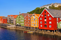 Paysage urbain de Trondheim, Norvège Images libres de droits