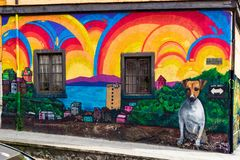 Paysage urbain de Valparaiso, Chili photo stock