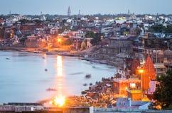 Paysage urbain de Varanasi Photos libres de droits