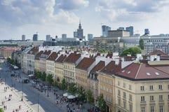 Paysage urbain de Varsovie - vue de vieille ville Photographie stock libre de droits