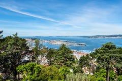 Paysage urbain de Vigo en Espagne Images libres de droits