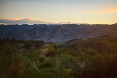 Paysage urbain de ville de Cusco Images stock