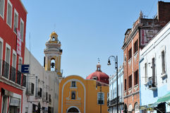 Paysage urbain de ville de Puebla - Mexique Image stock