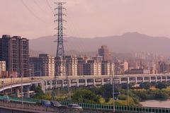 Paysage urbain de ville de Taïpeh Images stock