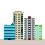 Paysage urbain de ville plate d'affaires Pour la décoration et la créativité dans le thème de design industriel urbain et Apparte Photo libre de droits