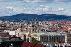 Paysage urbain de ville de Vienne avec le musée d'histoire naturelle Photographie stock