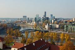 Paysage urbain de Vilnius Images libres de droits