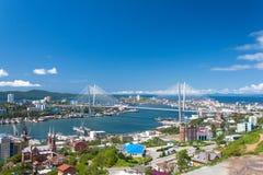 Paysage urbain de Vladivostok. Photographie stock libre de droits