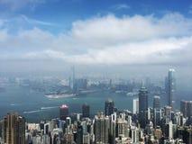 Paysage urbain de vue de paysage de ville images libres de droits